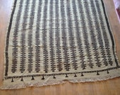 Organic wool kilim rug,black and white kilim,natural dye,vintage Turkish kilim,handmade kilim rug 5'9x6'7(174x203cm) FREE shipping