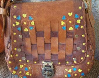 Vintage  Tooled on Leather Purse