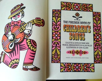 The Fireside Book of Children's Songs 1966 Fifth Printing Nursery,Silly,Animal,Games,Good Morning & Night Songs!!