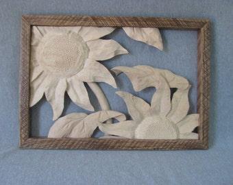 Sunflower in Vintage Frame