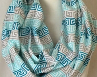 Blue Print Infinity Scarf