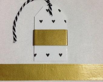 """30"""" Gold Washi Tape Sample"""