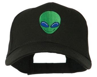 Smiley Alien Embroidery Cap