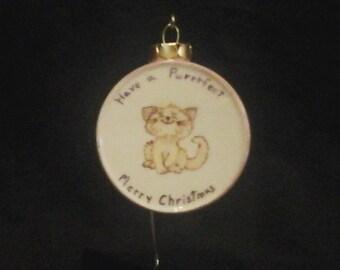 Purrrfect Cat Ornament
