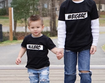 Sibling Tees - Big Bro / Lil Bro / Middle Bro / Big Sis / Lil Sis / Middle Sis / Only Child Kids/Youth Custom Hashies Tee or Onesie
