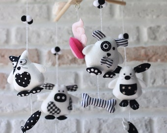 Baby Crib Mobile . Baby Mobile . Nursery Mobile . Rabbit dog Mobile. Cat Cow Mobile.Animals mobiles. Nursery or Kid Room Decor