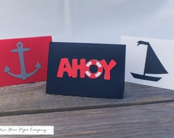 Nautical Lunchbox Note Cards, Set of 10