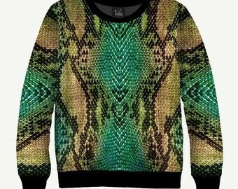 Snakeskin - Men's Women's Sweatshirt | Sweater - XS, S, M, L, XL, 2XL, 3XL, 4XL, 5XL