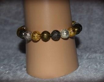 Handmade metallic beaded bracelet