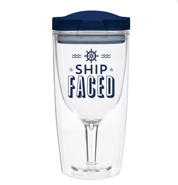 Ship Faced Wine To Go Cup