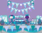 Mermaid party printable p...