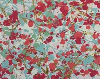 12 x 12 Blush pink (2) splatter painting.