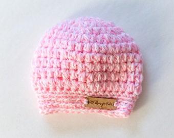 Newborn Crochet Puffy Beanie