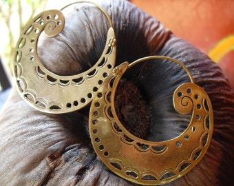 Earrings-brass