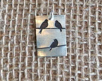Three little birds pendant