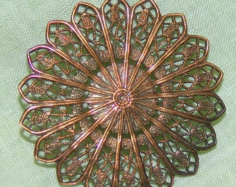 Superb Large Antique Metal Filigree Button ~ Very Thin and Delicate ~ Just Lovely!