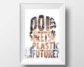 Dexter television series poster print - Do i see plastic sheets in your future?