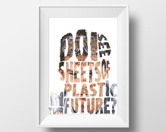 Dexter Inspired poster print - Fan Art - Do i see plastic sheets in your future?