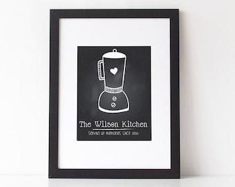 Personalized Family Kitchen PDF Print | Custom Chalkboard Print| Custom Gift | Printable 8x10 PDF | 010