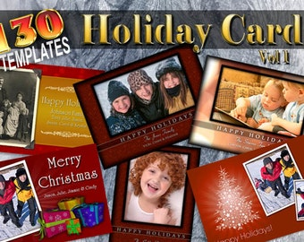Holiday Cards V1 130 Photoshop Templates [ON SALE!]