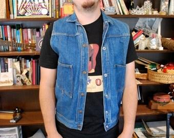 70's vintage denim vest
