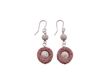 Earrings with lava