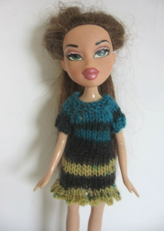 Knitting Patterns For Bratz Doll Clothes : nutka_art handmade doll clothes knit dress for Bratz Blythe