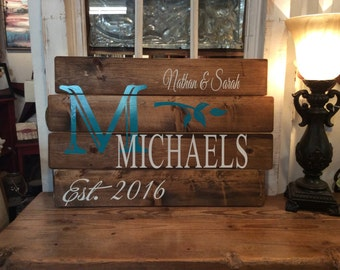 "Personalized Monogram Wall Plaque, 16"" x 24"""