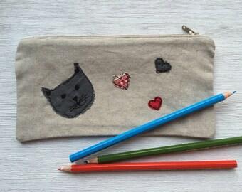 Handmade Cat Pencil Case