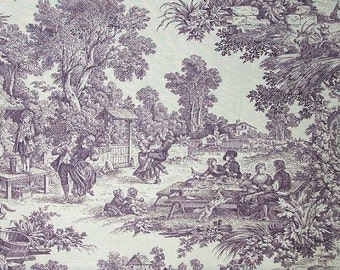 House Party color Plumb Toile Laura Ashley Fabric Printed Decorative Home Decor