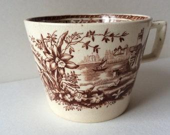 W.H.Grindley & Co. (Ltd), New Field Pottery, circa 1880-1891 'Daffodil' Pattern tea cup