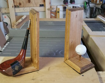 Golf-Themed Bookends