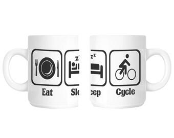 Cyclist Bike Rider Novelty Gift Mug SHAN87
