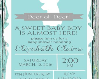 Country Rustic Baby Shower Invitation