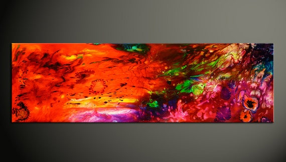 Epoxy Acrylic Painting : Colorful abstract painting epoxy resin art fluid acrylic