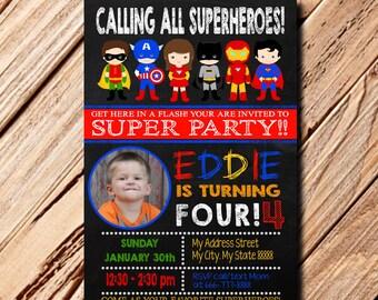 Superhero Invitation, Superhero Birthday, Superhero Birthday Invitation, Superhero, Superhero Party