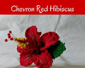 Free Crochet Pattern For Hibiscus Flower : Flower CROCHET PATTERN instant download for Big Curly