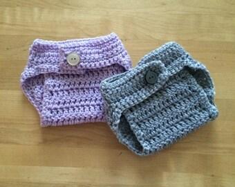 Crochet diaper cover, newborn diaper cover, newborn photo prop