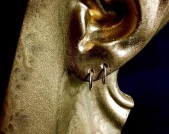 14K Gold Hoop Earrings - small handmade
