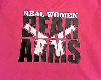 Real Women Bear Arms with Black and White Glitter