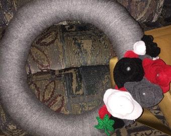 Handmade to order yarn wreaths