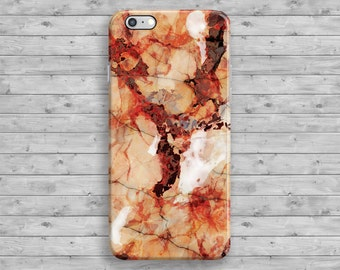 Marble iPhone 6 Case, Red iPhone 6S Case, Orange Marble iPhone 7 case, iPhone 7 Plus, iPhone 6S Plus, 4 4S 5 5S 5C SE Cool Space Granite