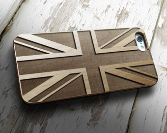 Union Jack Flag iPhone 6 / 6s case   iPhone 6S Case   Real Wood Case   Laser Engraved   Laser Etc USA Flag United States of America