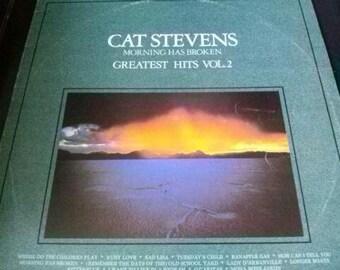 SALE- Cat Stevens- 'Morning has Broken' Greatest  Hits Vol-2 Vinyl L.P (1981)
