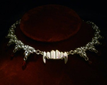Vampire Chainmaille Necklace