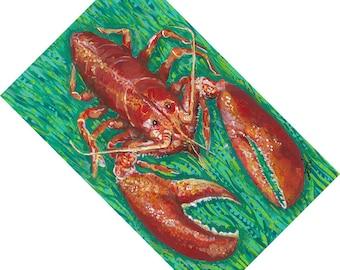 Lobster Canvas Floor Mat