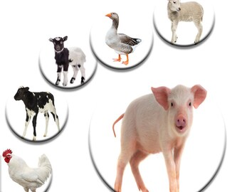A Pack of 6 50mm Farm Animals Dress making Pattern Weights for Sewing Patterns like on the TV Sewing Bee NEW