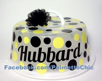 Personalized Value Cake Saver dessert carrier choose colors & personalization