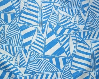 Blue Yacht Sea Lilly  fabric