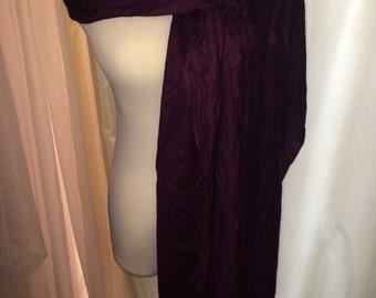 Purple silk blend scarf